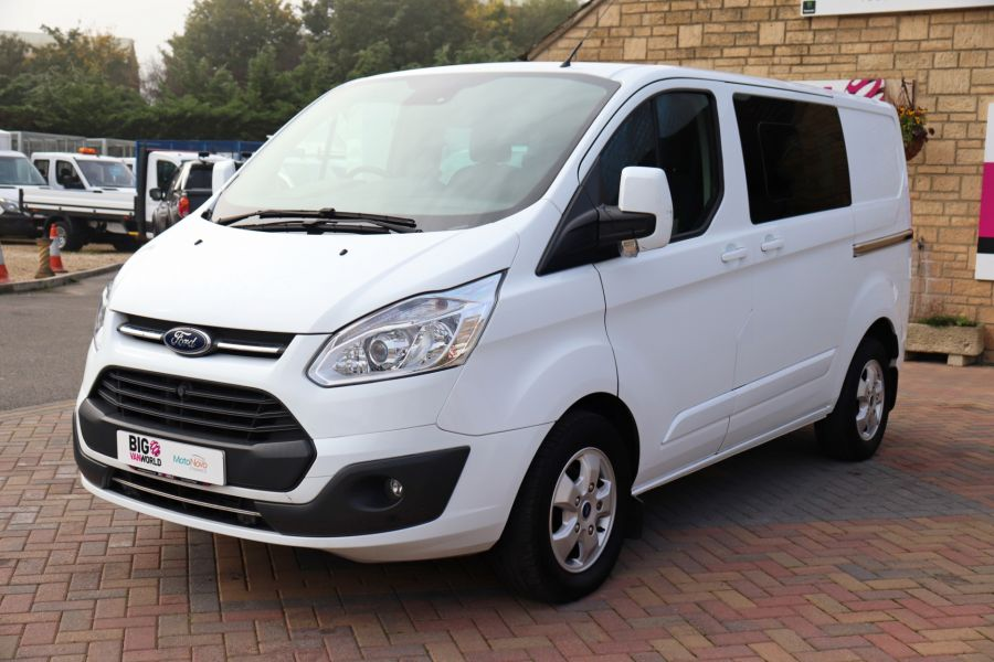 FORD TRANSIT CUSTOM 310 TDCI 130 L1H1 LIMITED DOUBLE CAB 6 SEAT CREW VAN SWB LOW ROOF FWD - 9964 - 9