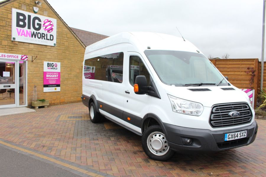 FORD TRANSIT 460 TDCI 125 L4 H3 TREND 17 SEAT BUS HIGH ROOF DRW RWD - 8462 - 2