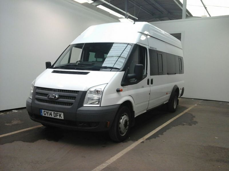 FORD TRANSIT 430 TDCI 135 EL LWB 17 SEAT BUS HIGH ROOF DRW RWD - 9665 - 1