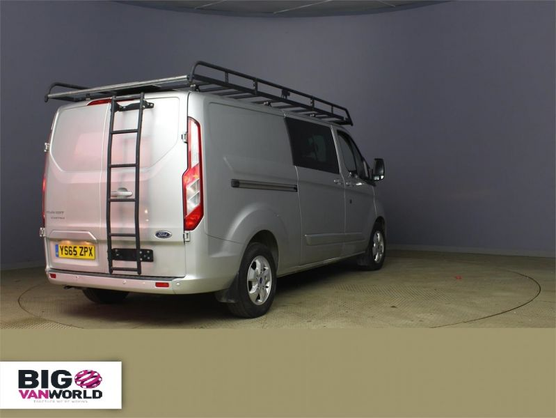 FORD TRANSIT CUSTOM 290 TDCI 125 L2 H1 LIMITED DOUBLE CAB 6 SEAT CREW VAN LWB LOW ROOF  - 8859 - 2