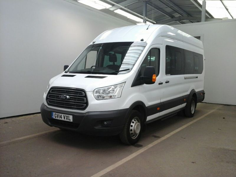 FORD TRANSIT 460 TDCI 125 L4H3 TREND 17 SEAT BUS HIGH ROOF DRW RWD - 10018 - 1