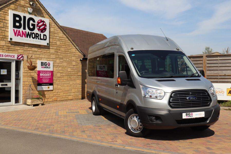FORD TRANSIT 350 TDCI 155 L4H3 TREND 17 SEAT BUS HIGH ROOF DRW RWD  (13895) - 12177 - 1