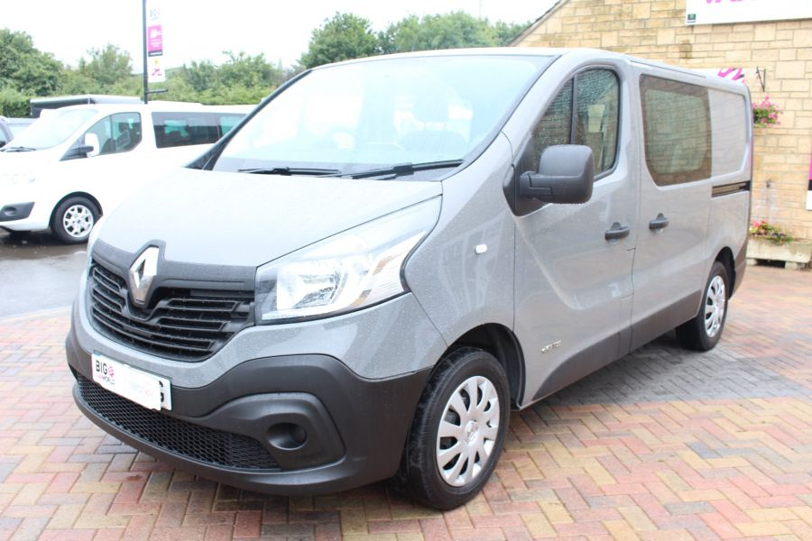 RENAULT TRAFIC SL27 DCI 115 BUSINESS DOUBLE CAB 6 SEAT CREW VAN SWB LOW ROOF - 8178 - 8