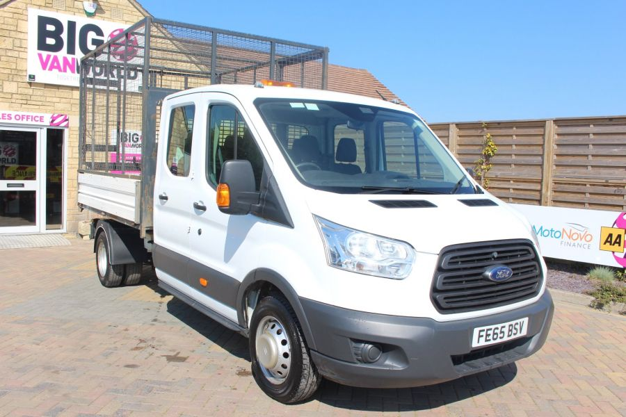 FORD TRANSIT 350 TDCI 125 L3 LWB 7 SEAT DOUBLE CAB 'ONE STOP' ALLOY TIPPER WITH STEEL CAGE DRW RWD - 9150 - 12