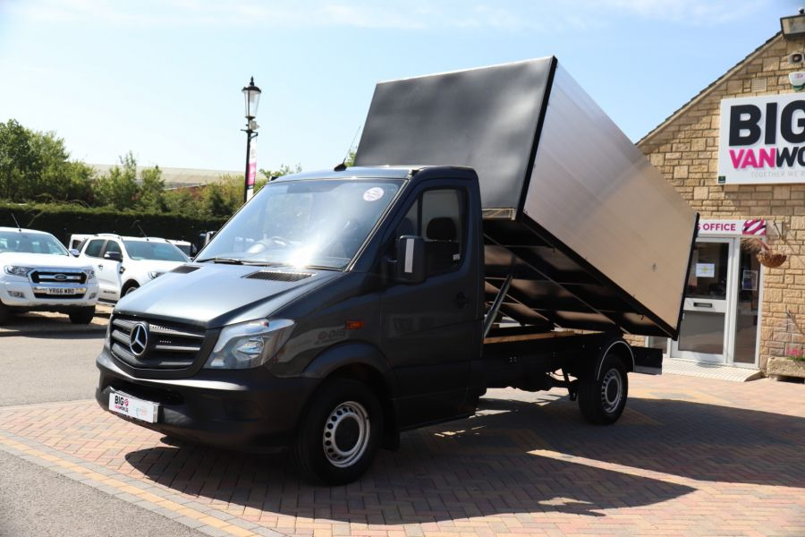 MERCEDES SPRINTER 313 CDI 129 SINGLE CAB NEW BUILD HIGH SIDED ALLOY TIPPER - 9672 - 9