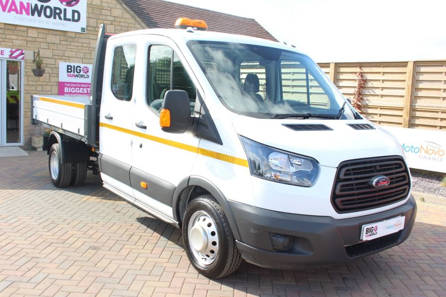 FORD TRANSIT 350 TDCI 130 L3 LWB 7 SEAT DOUBLE CAB 'ONE STOP' ALLOY TIPPER DRW RWD - 7634 - 11