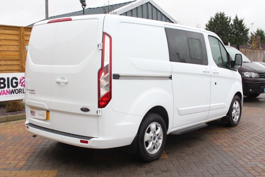 FORD TRANSIT CUSTOM 290 TDCI 155 L1 H1 LIMITED DOUBLE CAB 6 SEAT CREW VAN SWB LOW ROOF FWD - 6940 - 5