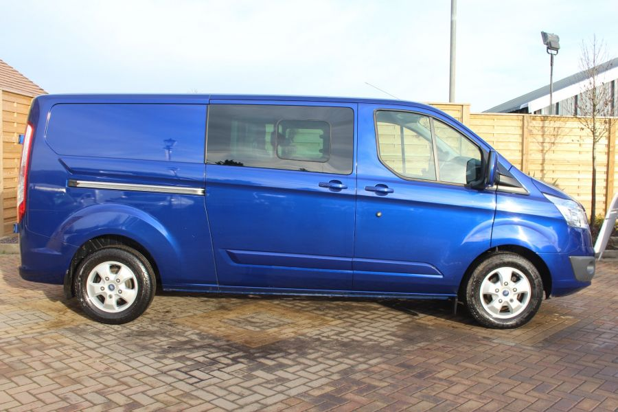 FORD TRANSIT CUSTOM 290 TDCI 125 L2 H1 LIMITED DOUBLE CAB 6 SEAT CREW VAN LWB LOW ROOF FWD  - 7113 - 4