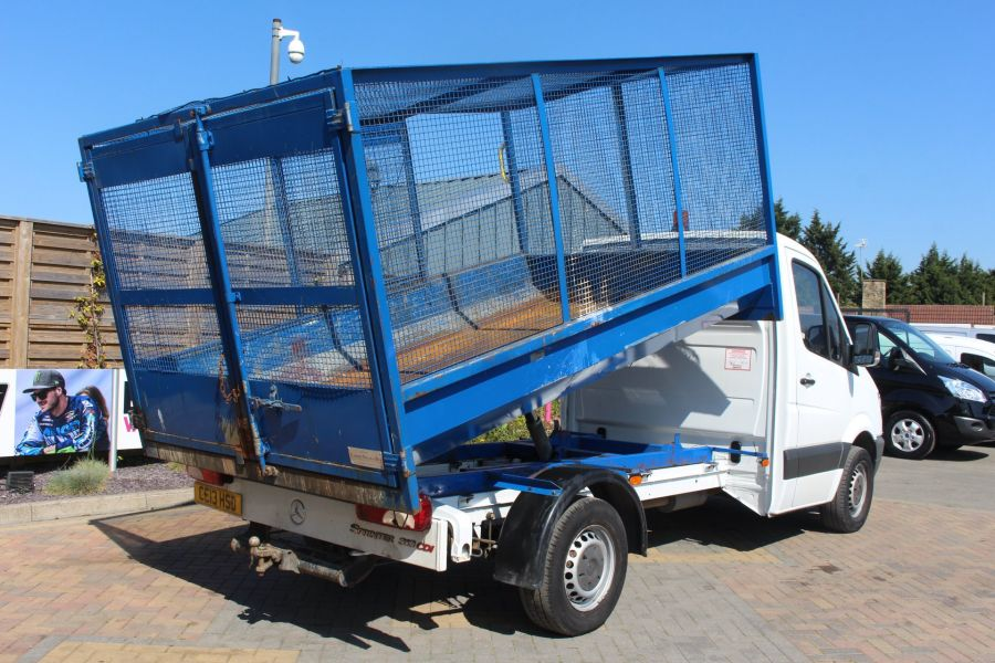 MERCEDES SPRINTER 313 CDI 129 MWB SINGLE CAB CAGED TIPPER - 9129 - 6