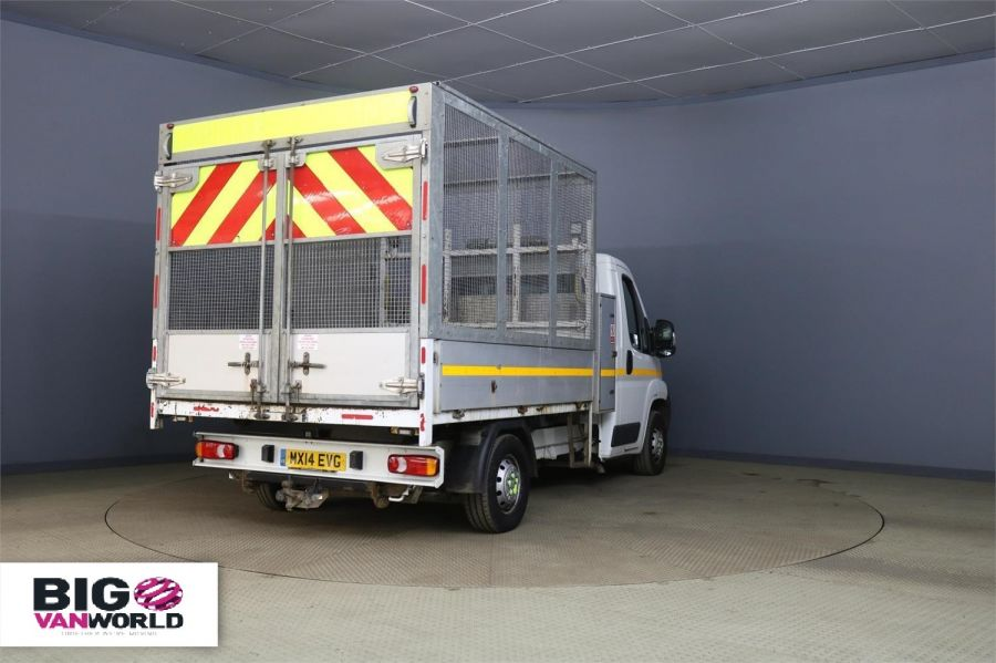 PEUGEOT BOXER 335 HDI 130 L2 MWB ALLOY TIPPER WITH STEEL CAGE - 9530 - 2