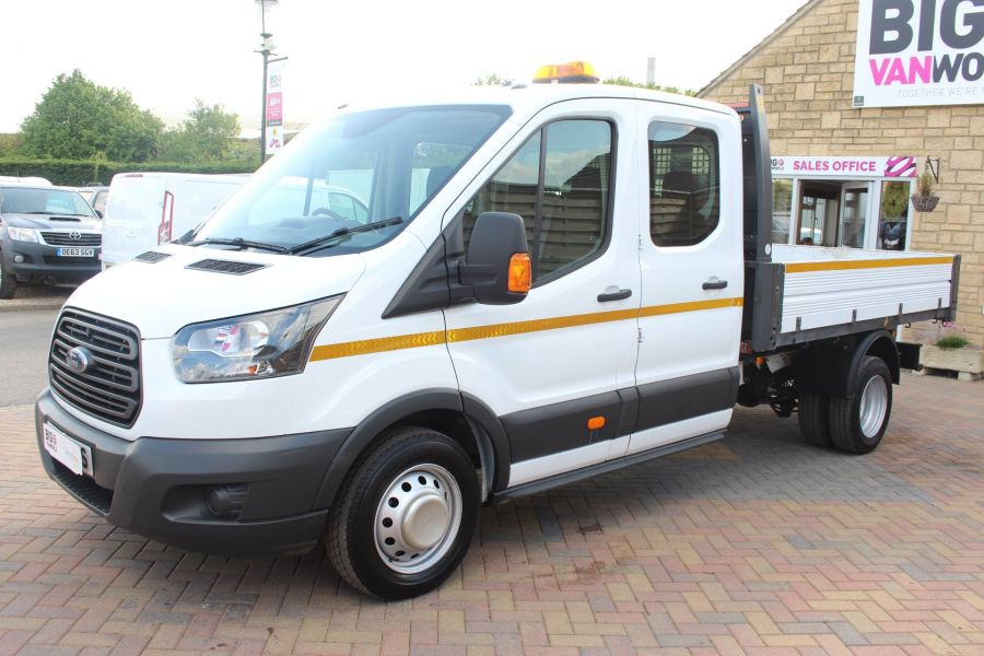 FORD TRANSIT 350 TDCI 130 L3 LWB 7 SEAT DOUBLE CAB 'ONE STOP' ALLOY TIPPER DRW RWD - 7634 - 16