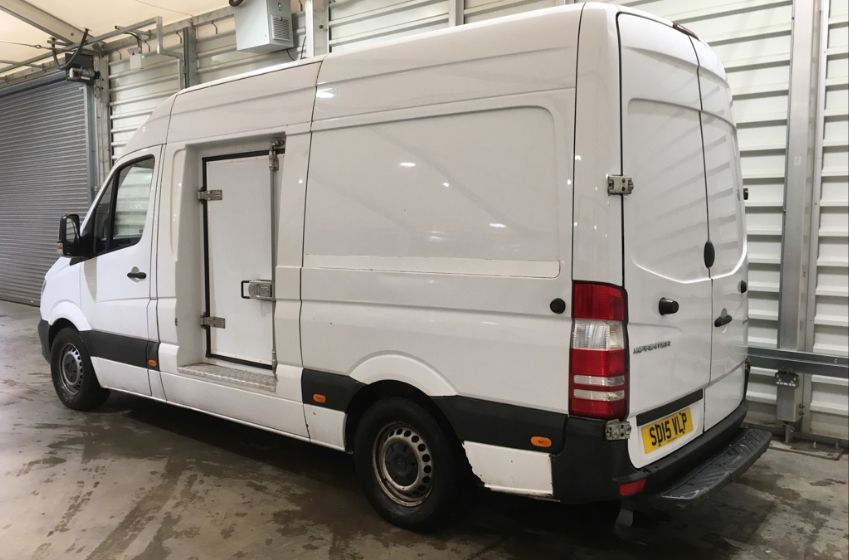MERCEDES SPRINTER 313 CDI 129 MWB HIGH ROOF FRIDGE/FREEZER VAN WITH OVERNIGHT - 11238 - 6