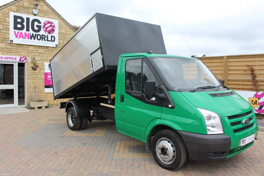 FORD TRANSIT 350 TDCI MWB SINGLE CAB NEW ALLOY ARBORIST TIPPER - 6565 - 2