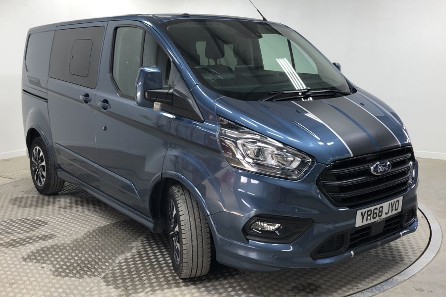 FORD TRANSIT CUSTOM 310 TDCI 170 L1H1 SPORT DOUBLE CAB 5 SEAT CREW VAN SWB LOW ROOF FWD AUTO - 12470 - 1
