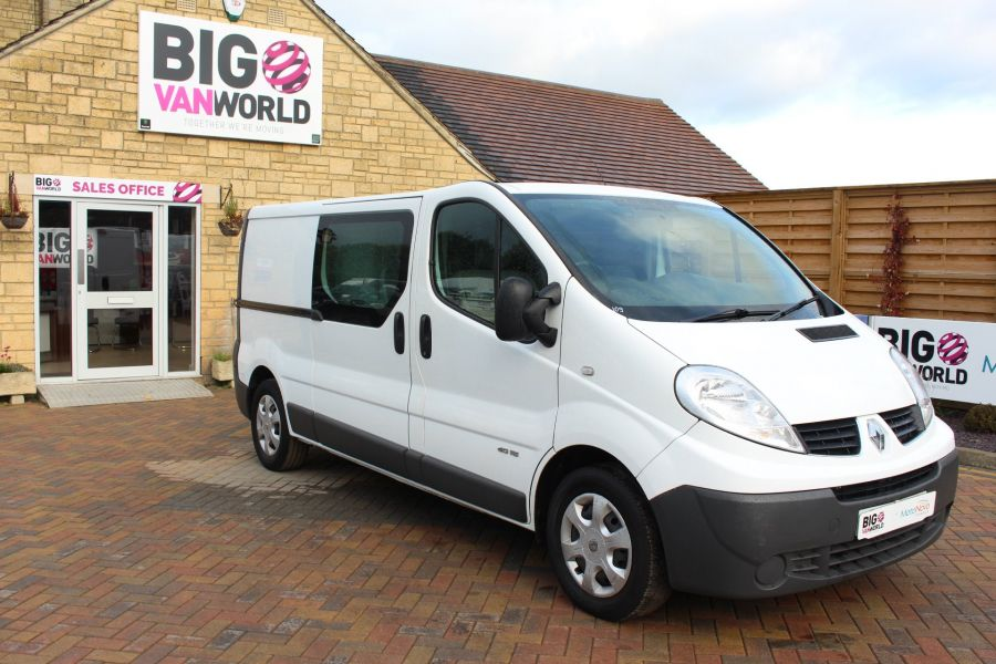 RENAULT TRAFIC LL29 DCI 115 L2 H1 DOUBLE CAB LWB CREW VAN - 6787 - 2