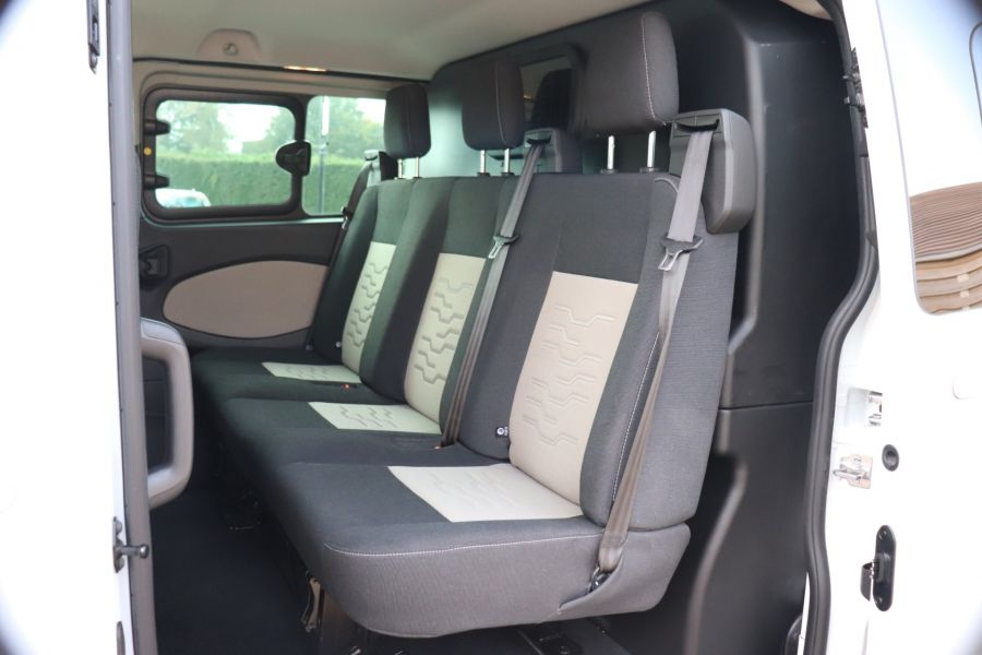 FORD TRANSIT CUSTOM 310 TDCI 130 L1H1 LIMITED DOUBLE CAB 6 SEAT CREW VAN SWB LOW ROOF FWD - 9964 - 35