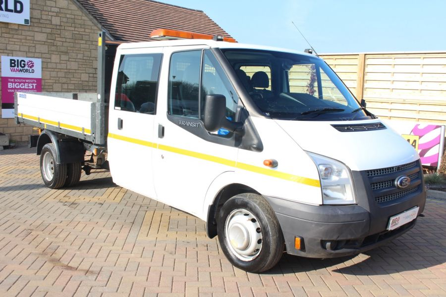 FORD TRANSIT 350 TDCI 155 LWB 6 SEAT DOUBLE CAB 'ONE STOP' ALLOY TIPPER DRW RWD - 7337 - 11