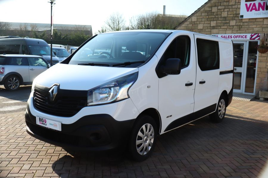RENAULT TRAFIC SL27 DCI 115 BUSINESS SWB DOUBLE CAB 6 SEAT CREW VAN LOW ROOF  - 10282 - 9