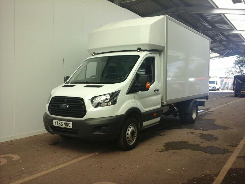 FORD TRANSIT 350 TDCI 130 L4 'ONE STOP' LUTON WITH TAIL LIFT DRW RWD - 9852 - 1