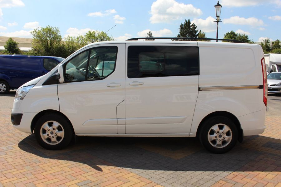 FORD TRANSIT CUSTOM 290 TDCI 125 L1 H1 LIMITED SWB DOUBLE CAB 6 SEAT CREW VAN FWD - 9206 - 8
