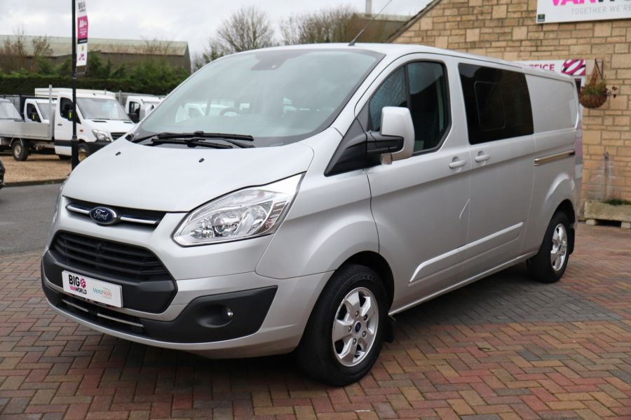 FORD TRANSIT CUSTOM 310 TDCI 130 L2H1 LIMITED DOUBLE CAB 6 SEAT CREW VAN  LWB LOW ROOF FWD  - 9968 - 9