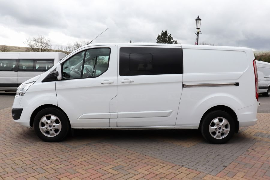 FORD TRANSIT CUSTOM 310 TDCI 130 L2H1 LIMITED DOUBLE CAB 6 SEAT CREW VAN LWB LOW ROOF FWD  (13819) - 12104 - 11