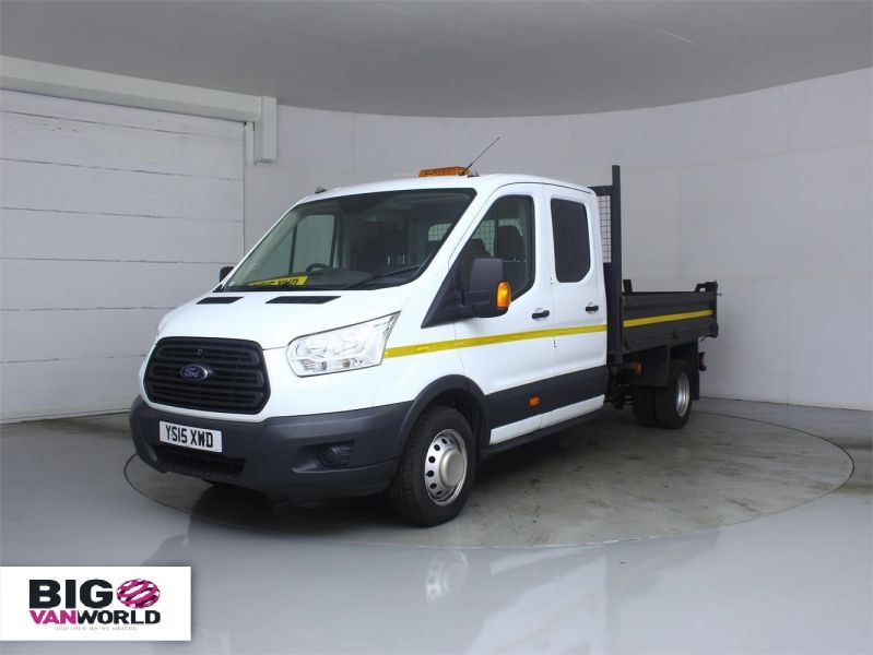 FORD TRANSIT 350 TDCI 125 L3 DOUBLE CAB 'ONE STOP' ALLOY TIPPER DRW - 7214 - 6