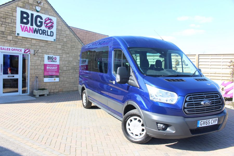 FORD TRANSIT 410 TDCI 125 L3 H2 TREND 15 SEAT BUS LWB MEDIUM ROOF RWD - 9007 - 2