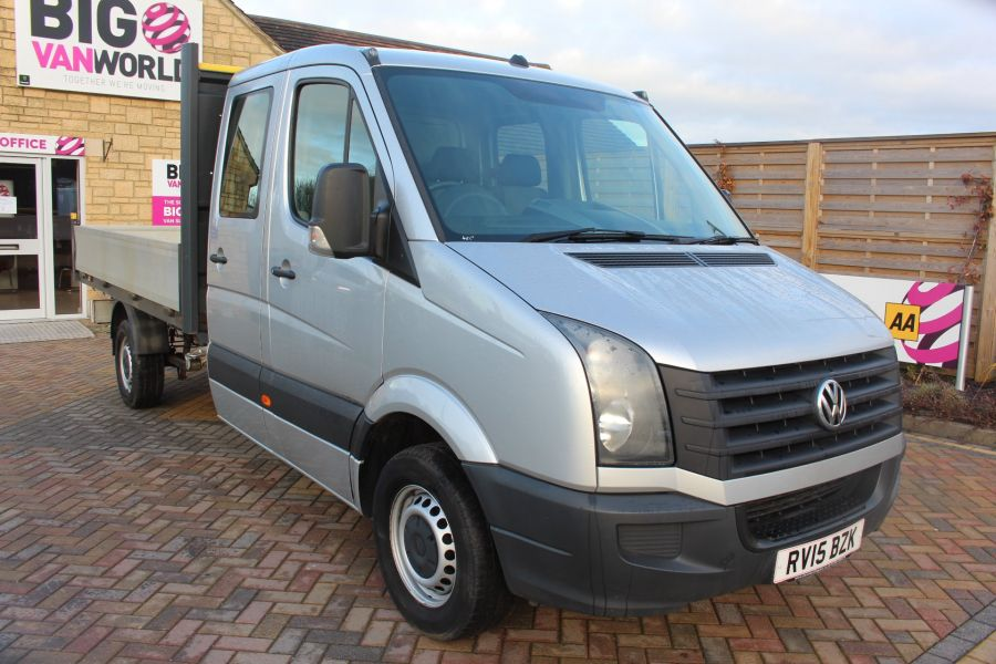 VOLKSWAGEN CRAFTER CR35 TDI 109 LWB 7 SEAT DOUBLE CAB ALLOY DROPSIDE - 9019 - 1