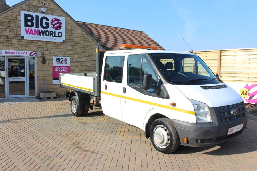 FORD TRANSIT 350 TDCI 155 LWB 6 SEAT DOUBLE CAB 'ONE STOP' ALLOY TIPPER DRW RWD - 7337 - 10