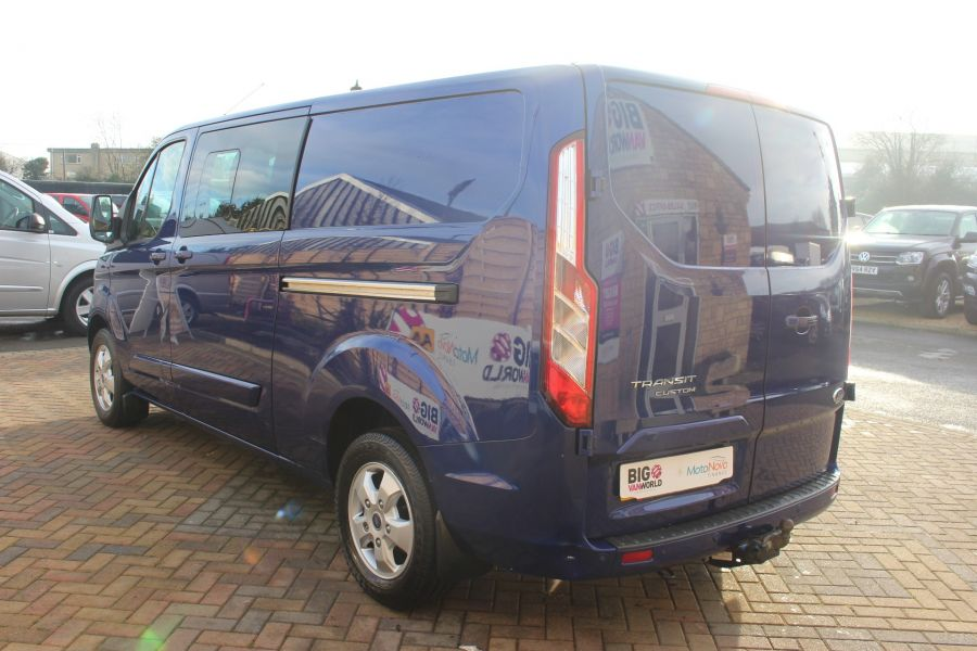 FORD TRANSIT CUSTOM 290 TDCI 125 L2 H1 LIMITED DOUBLE CAB 6 SEAT CREW VAN LWB LOW ROOF FWD  - 7113 - 7