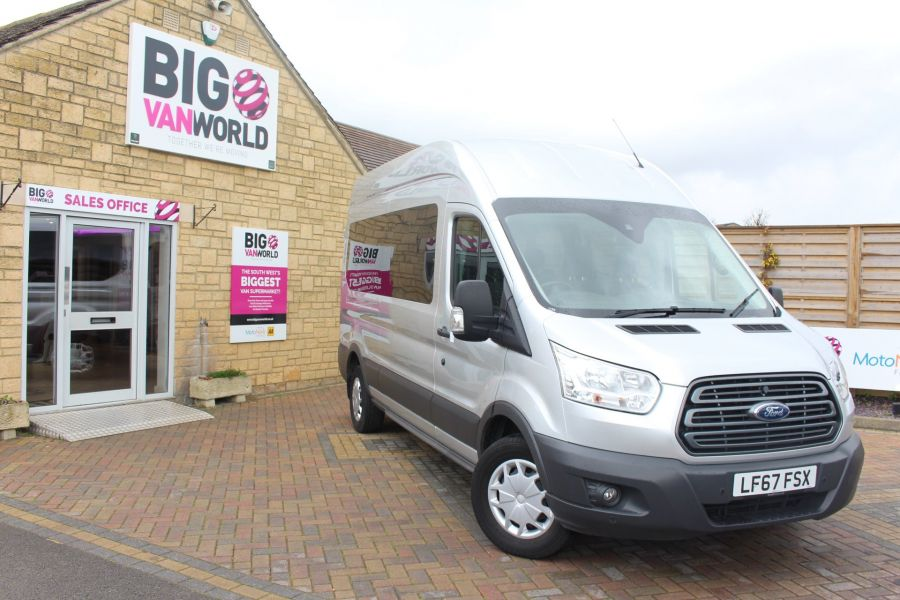FORD TRANSIT 410 TDCI 155 L3 H3 TREND 15 SEAT BUS LWB HIGH ROOF RWD - 9122 - 1