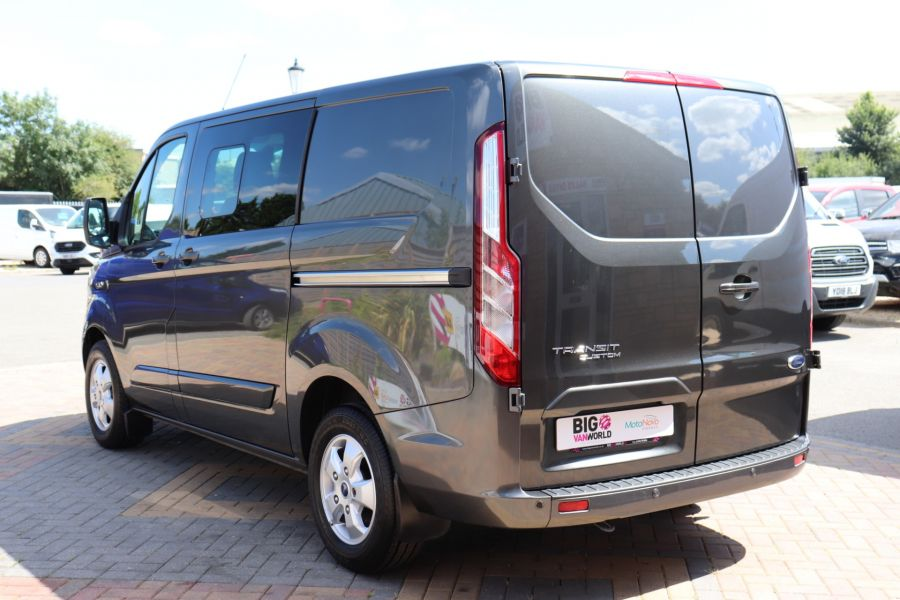 FORD TRANSIT CUSTOM 290 TDCI 125 L1H1 LIMITED DOUBLE CAB 6 SEAT CREW VAN SWB LOW ROOF FWD - 9474 - 7