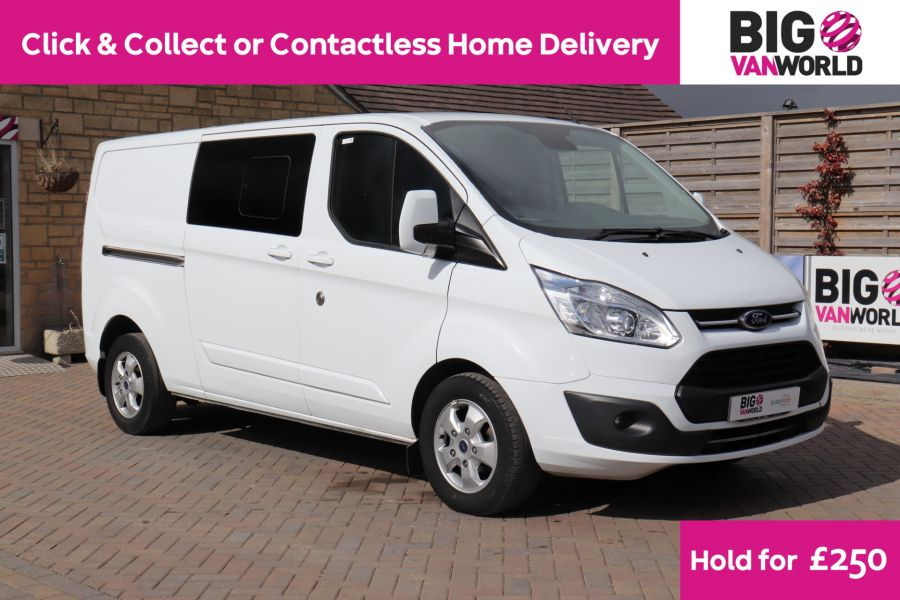 FORD TRANSIT CUSTOM 310 TDCI 130 L2H1 LIMITED DOUBLE CAB 6 SEAT CREW VAN LWB LOW ROOF FWD  (13819) - 12104 - 1
