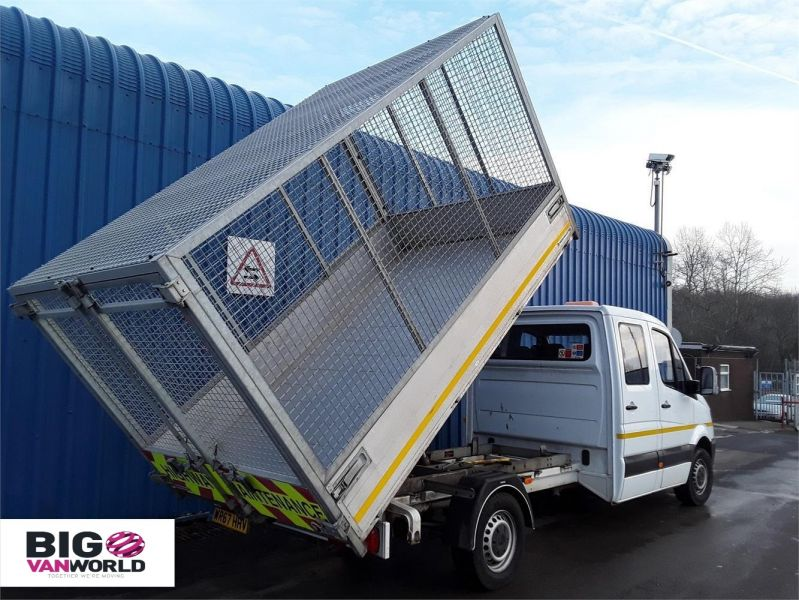 MERCEDES SPRINTER 314CDI LWB DOUBLE CAB 6 SEAT CAGED ALLOY TIPPER - 9288 - 2
