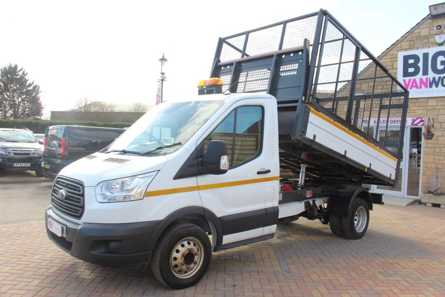 FORD TRANSIT 350 TDCI 125 SINGLE CAB 'ONE STOP' CAGED TIPPER DRW RWD - 7297 - 7