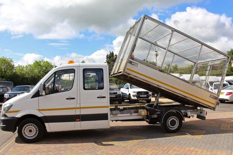 MERCEDES SPRINTER 314 CDI 140 DOUBLE CAB 6 SEAT CAGED ALLOY TIPPER - 9302 - 17