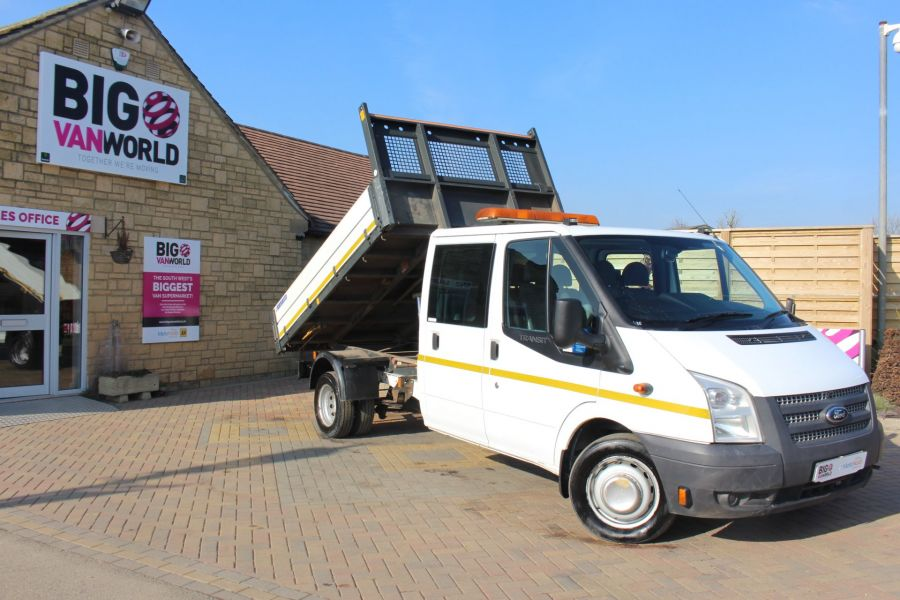 FORD TRANSIT 350 TDCI 155 LWB 6 SEAT DOUBLE CAB 'ONE STOP' ALLOY TIPPER DRW RWD - 7337 - 1