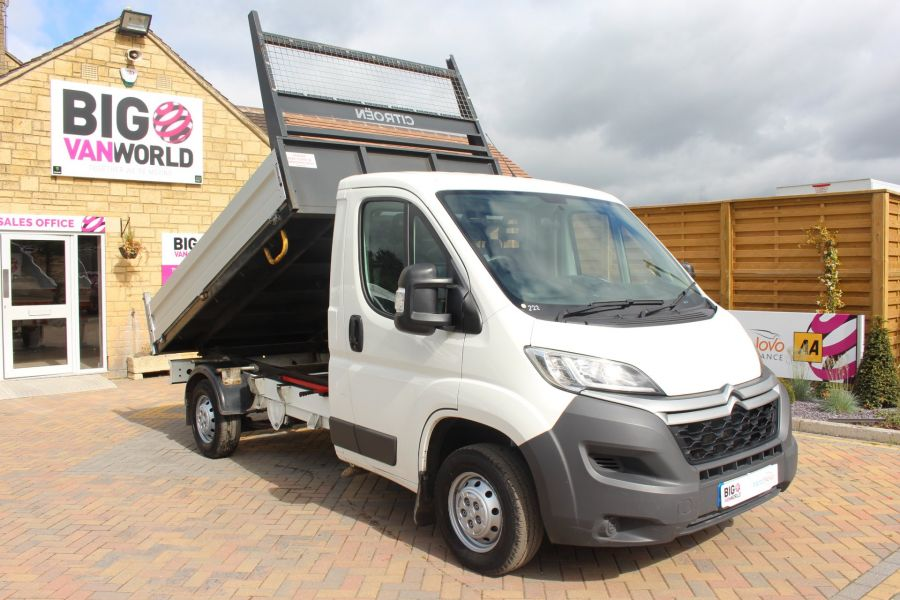 CITROEN RELAY 35 HDI 130 MWB L2 SINGLE CAB ALLOY TIPPER - 6202 - 3