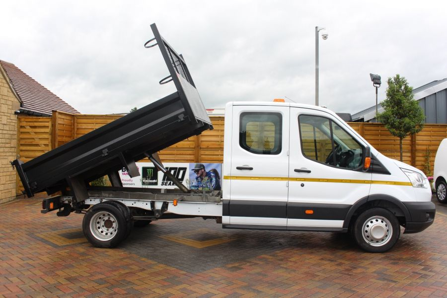 FORD TRANSIT 350 TDCI 125 L3 DOUBLE CAB STEEL TIPPER DRW - 6192 - 3