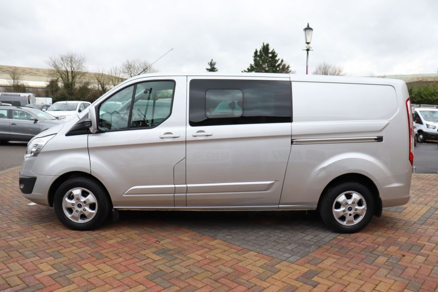 FORD TRANSIT CUSTOM 310 TDCI 130 L2H1 LIMITED DOUBLE CAB 6 SEAT CREW VAN  LWB LOW ROOF FWD  - 9968 - 8