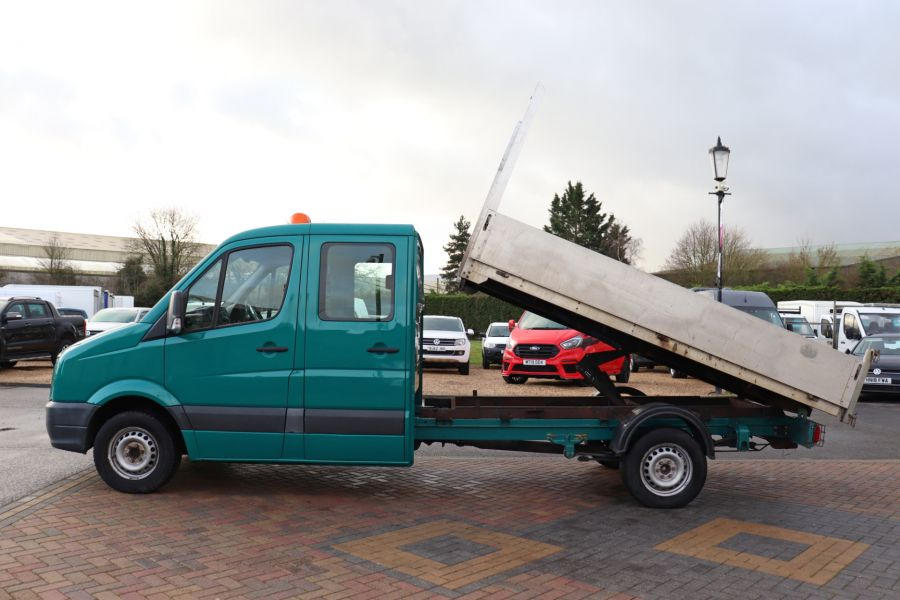 VOLKSWAGEN CRAFTER CR35 TDI 109 LWB 7 SEAT DOUBLE CAB ALLOY TIPPER - 9967 - 9