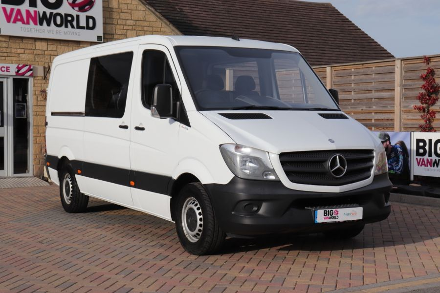 MERCEDES SPRINTER 313 CDI 129 MWB DOUBLE CAB 6 SEAT CREW VAN LOW ROOF - 11824 - 1