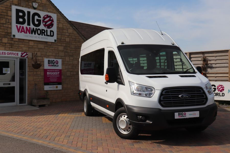 FORD TRANSIT 460 TDCI 125 L4H3 TREND 17 SEAT BUS HIGH ROOF DRW RWD - 10326 - 1