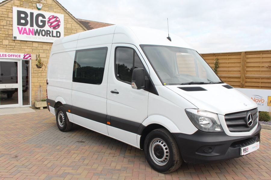 MERCEDES SPRINTER 313 CDI MWB HIGH ROOF 6 SEAT CREW VAN - 6303 - 2