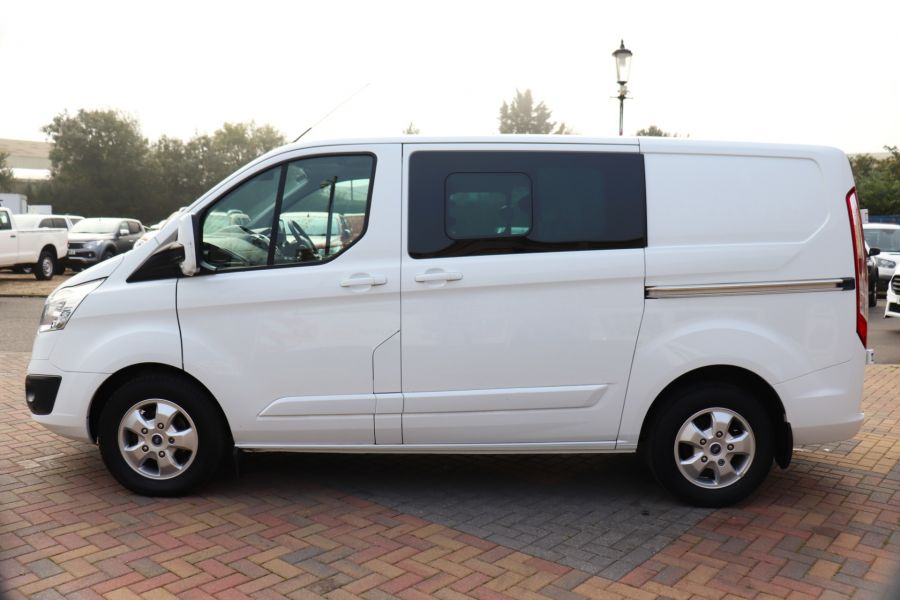 FORD TRANSIT CUSTOM 310 TDCI 130 L1H1 LIMITED DOUBLE CAB 6 SEAT CREW VAN SWB LOW ROOF FWD - 9964 - 8