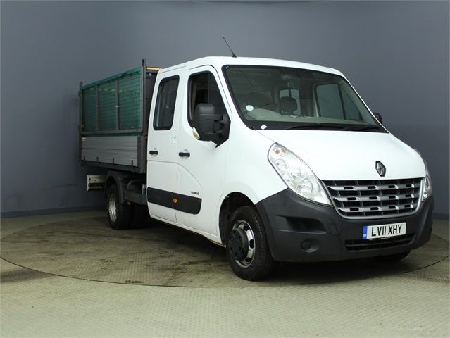 RENAULT MASTER ML35 DCI 100 MWB 7 SEAT DOUBLE CAB ALLOY CAGED TIPPER DRW RWD - 7335 - 1