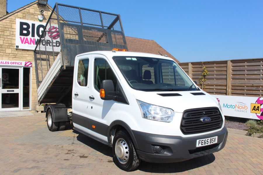 FORD TRANSIT 350 TDCI 125 L3 LWB 7 SEAT DOUBLE CAB 'ONE STOP' ALLOY TIPPER WITH STEEL CAGE DRW RWD - 9150 - 4