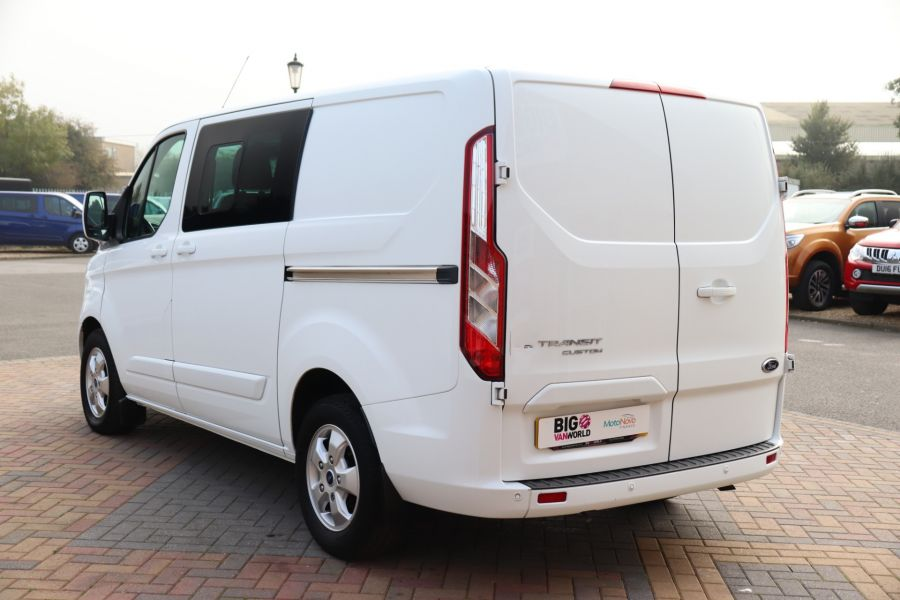 FORD TRANSIT CUSTOM 310 TDCI 130 L1H1 LIMITED DOUBLE CAB 6 SEAT CREW VAN SWB LOW ROOF FWD - 9964 - 7