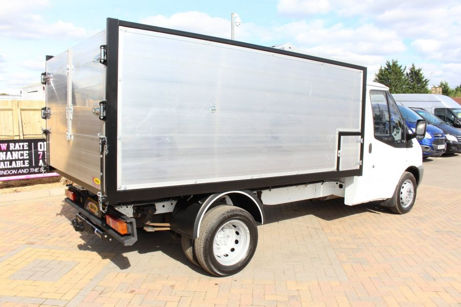 FORD TRANSIT 350 MWB SINGLE CAB HIGH SIDED ARBORIST ALLOY TIPPER - 6153 - 3